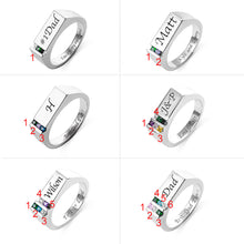 Load image into Gallery viewer, Personalized Men's Ring Birthstone Family Ring