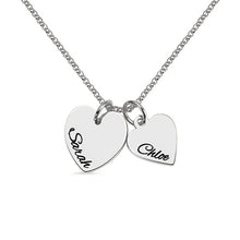 Load image into Gallery viewer, Personalized Double Hearts Charm Necklace