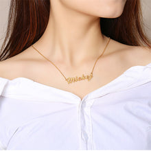 Load image into Gallery viewer, BallPark Personalized Name Necklaces Solid Stainless Steel Choker for Women Fashion Pendant Custom Special Unique Gift