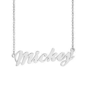 BallPark Personalized Name Necklaces Solid Stainless Steel Choker for Women Fashion Pendant Custom Special Unique Gift