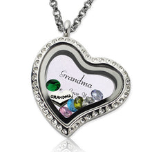 Load image into Gallery viewer, Customizable Engraved Floating Charm Locket For Mom or Grandma