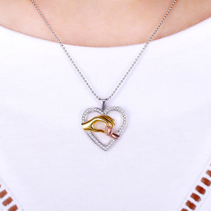 Personalized Holding Hand Heart Necklace For Mom