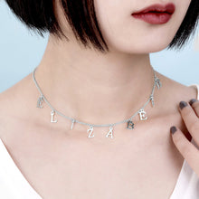 Load image into Gallery viewer, Personalized Name Choker in Silver
