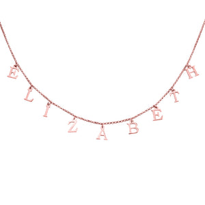 Personalized Name Choker in Silver