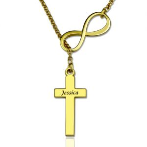 Classy Infinity Cross Name Necklace