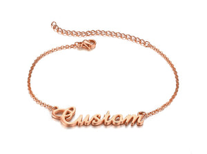 Personalized Name Bracelets for Women Solid Stainless Steel in Gold Tone Customize Unique Wedding Gift Elegant BFF Bracelet