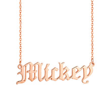 Load image into Gallery viewer, Old English Text MT Personalized Name Necklaces Solid Stainless Steel Choker for Women Fashion Pendant Custom Special Unique Gift