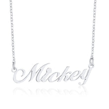 Load image into Gallery viewer, Custom Nameplate Necklaces for Women Lady Glossy Stainless Steel Name Pendant Personalize Unique Lover Valentine's Day Gift