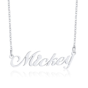 Custom Nameplate Necklaces for Women Lady Glossy Stainless Steel Name Pendant Personalize Unique Lover Valentine's Day Gift