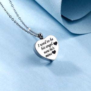Personalized Heart Cremation Ashes Into Necklace Stainless Steel