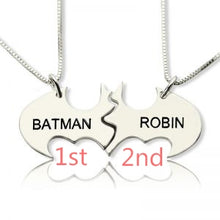 Load image into Gallery viewer, Batman Best Friend Name Necklace Sterling Silver