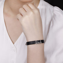 "Load image into Gallery viewer, Personalized ""Love"" Leather Bracelet"