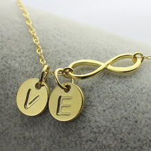 Load image into Gallery viewer, Custom Infinity Initial Necklace: for Sisters or Friends