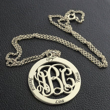 Load image into Gallery viewer, Monogram Necklace Stamped 4 Names for Grandma