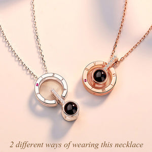 Personalized Memorial Microscopic Carvings Necklace Sterling Silver