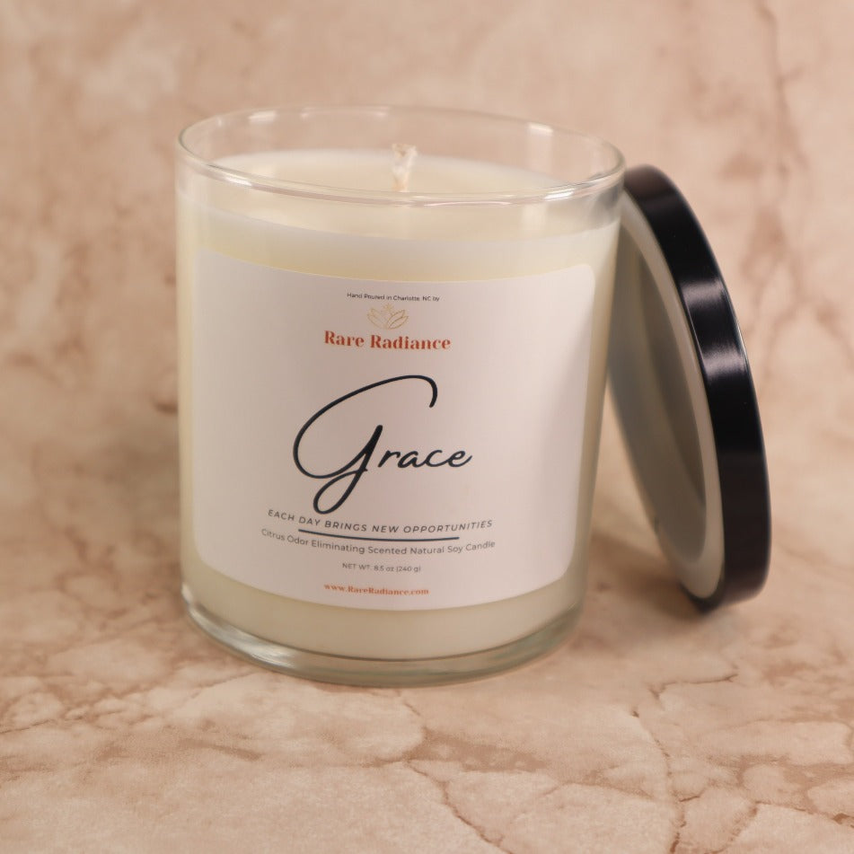 Grace: Single-Wick Citrus Scented Candle