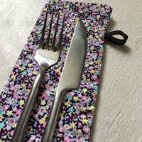 Cotton Cutlery Pouch - Multi Colour