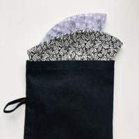 Cotton Face Mask Pouch - Black