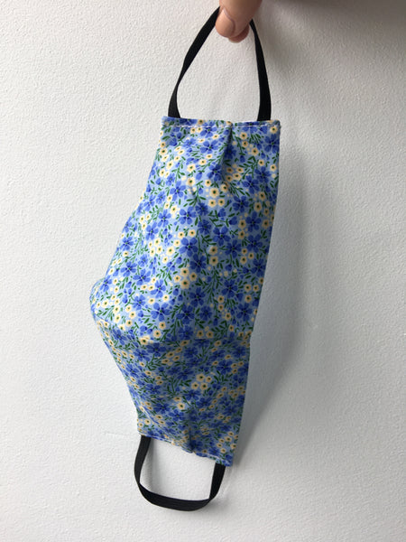 Ladies Reusable Face Mask - Blue Pattern