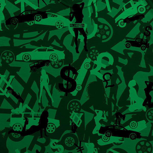 Money, Cars & Girls Camo (Kelly Green) T-Shirt