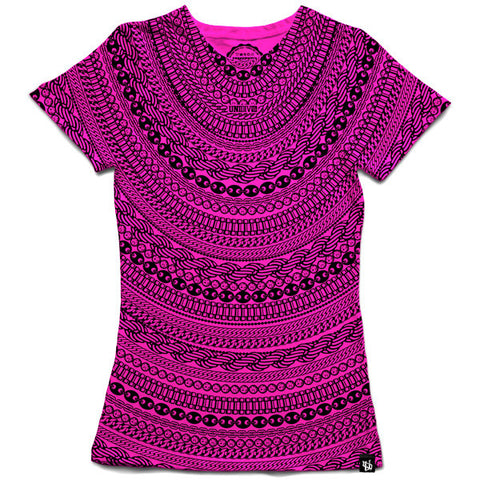 Gold & Diamond Chains (New Pink) T-Shirt