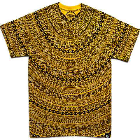 Gold & Diamond Chains (Gold) T-Shirt