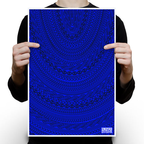 Gold Chains - Royal Blue Poster