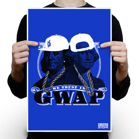 Gwap - Royal Blue White poster