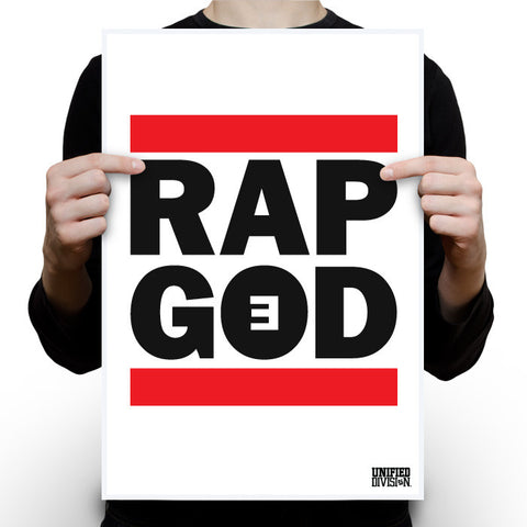 Rap God - White  poster