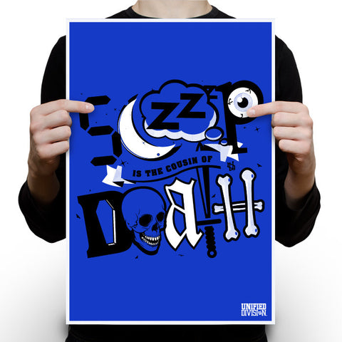 Sleepdeath Royal Blue Poster