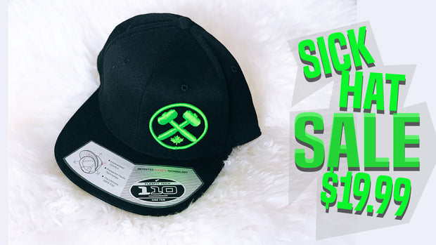 Sick Hat Sale 110 Flex Black/NeonGreen