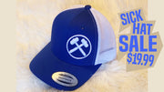 Sick Hat Sale Curved Brim Mesh/Snap RoyalBlue/White