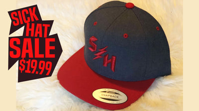 Sick Hat Sale HeatherGrey/Red Snapback
