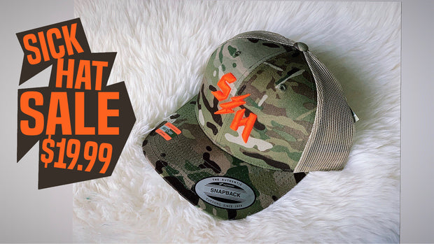 Sick Hat Sale MultiCam Mesh/Snap