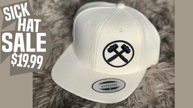 Sick Hat Sale White Wool Snapback