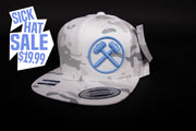 "Sledgehammers "" DISTINCT"" White Multicam Flatbrim"