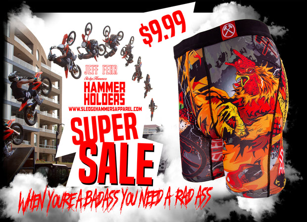 "Sledgehammers "" ROCK OUT WITH YOUR COCK OUT "" Jeff Fehr signature series men's Underwear"