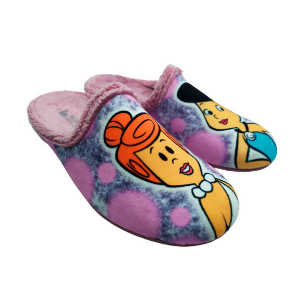 Divertida zapatilla casa invierno Vilma y Betty