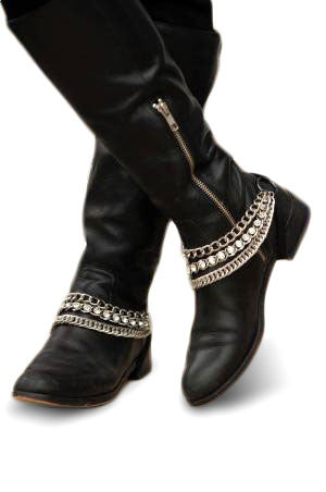 Sassy Strapps Triple Chain and Rhinestone for Flat Boots