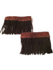 Sassy Strapps Fringe and Bronze trim Boot Strapps