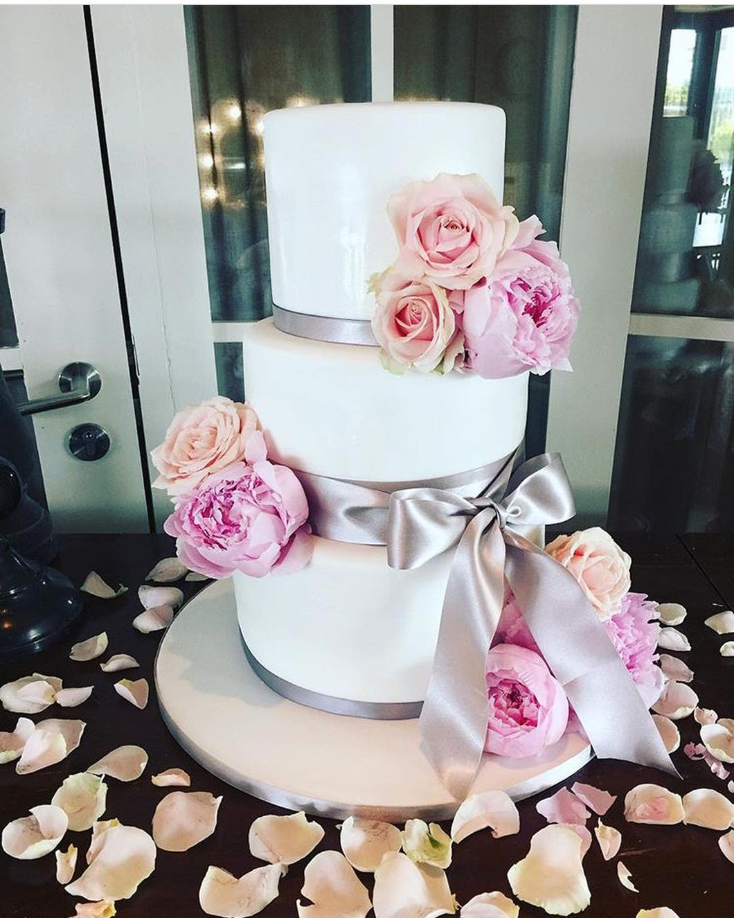 Floral Sophia Wedding Cake