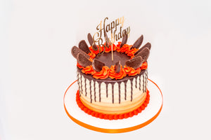 Chocolate Orange Explosion Drip Cake