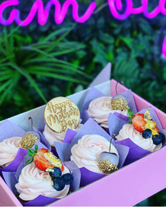 Mothers Day -  24ct Gold Cupcakes
