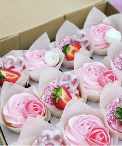 6 Strawberry Overload Cupcakes