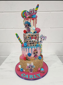 4 Tier Explosion Cake - Any theme!