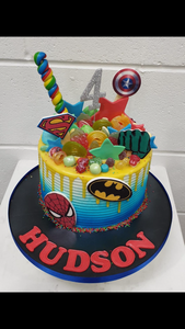 Superhero Explosion Birthday Cake