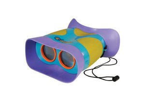 Purple, green, and blue plastic binoculars toy for kids