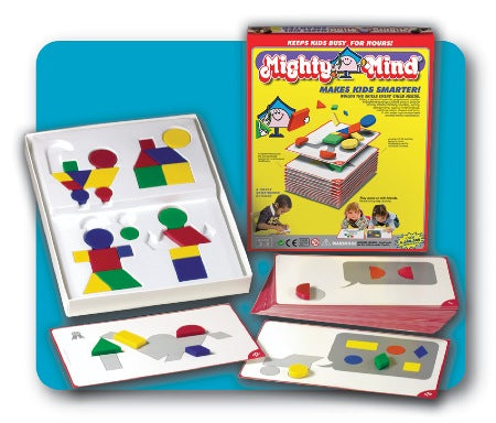Shape-building, educational puzzle activity kit for young kids