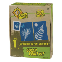 Educational science activity kit with solar print paper to create solar print art