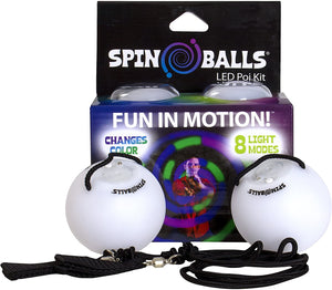 Colour changing LED spin ball activity with 8 light modes